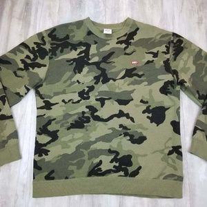 Obey Sweaters - Men s Obey Bar Logo Camo Crew Neck Sweatshirt LRG 86b20d811